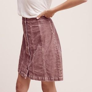 Anthropologie Corduroy Skirt
